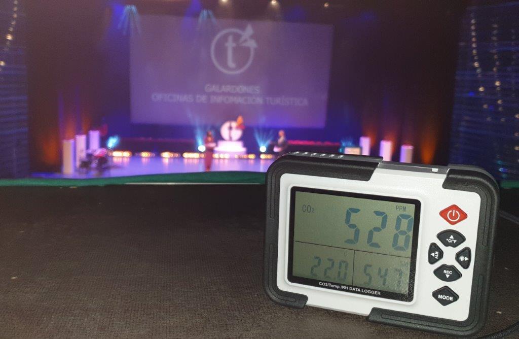 medicion de co2 en evento